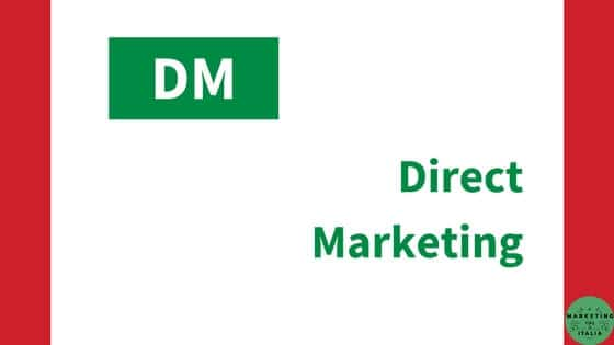 Direct marketing – DM