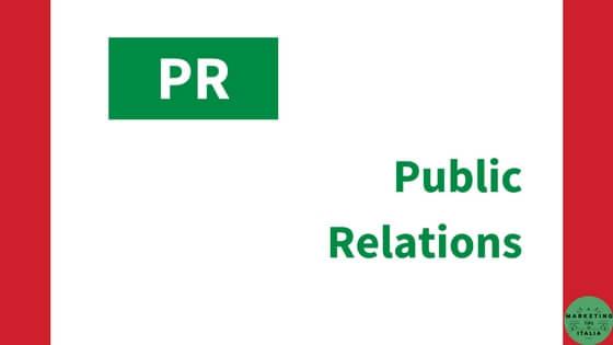 Relazioni pubbliche – PR